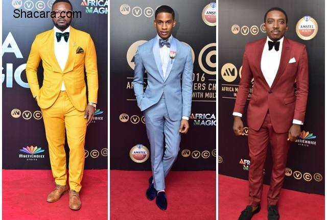 Men Of Style! Falz, Denola Grey & More Try Their Hands On Bold Colors At #AMVCA2016
