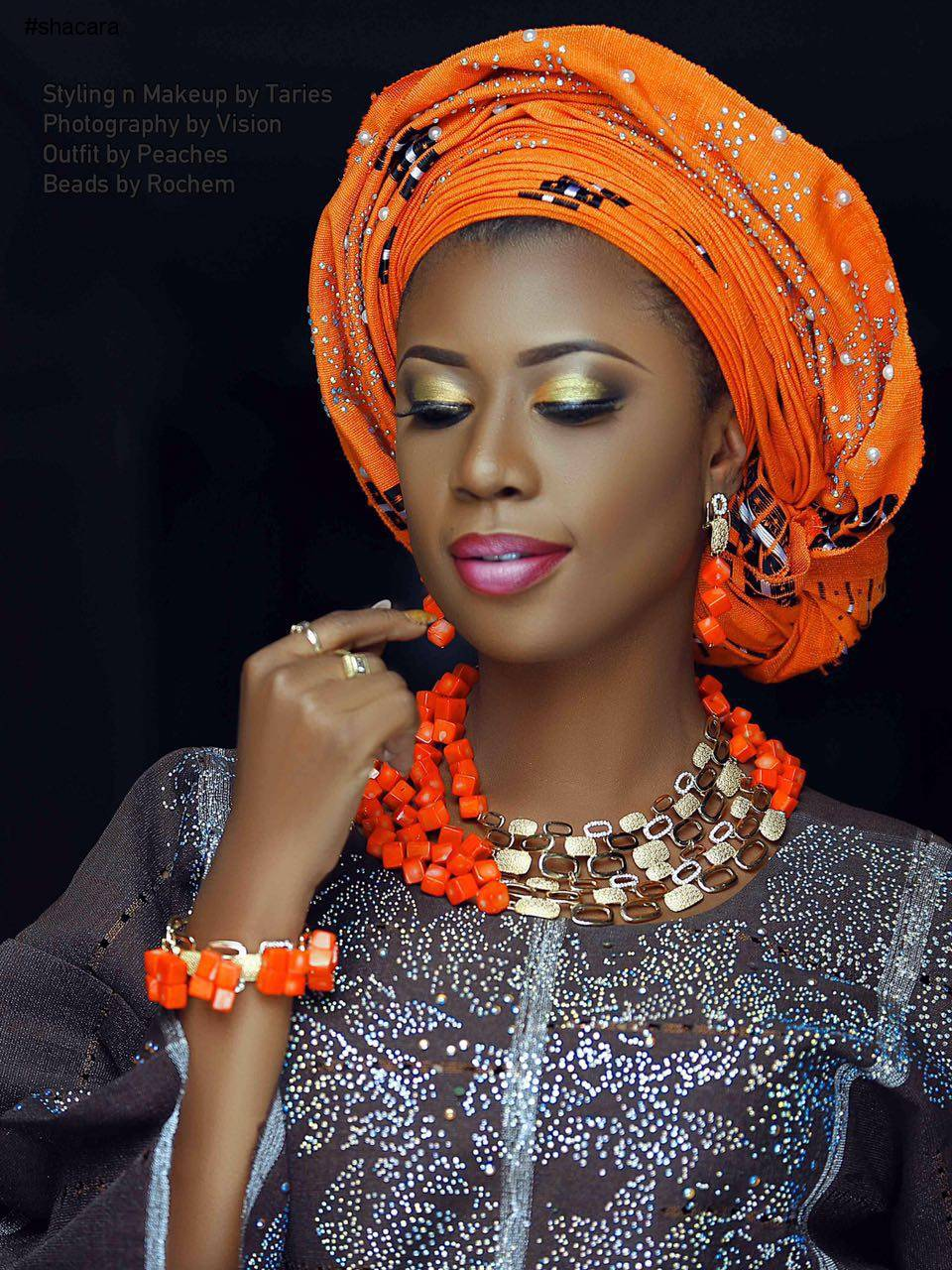 Hot Shots: Big Brother Africa Star Selly Galley Looking Extra Beautiful In Nigerian Attire In New Pics