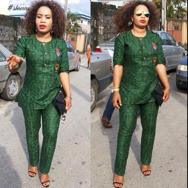 GREEN ANKARA STYLES IN CELEBRATION OF THE INDEPENDENCE
