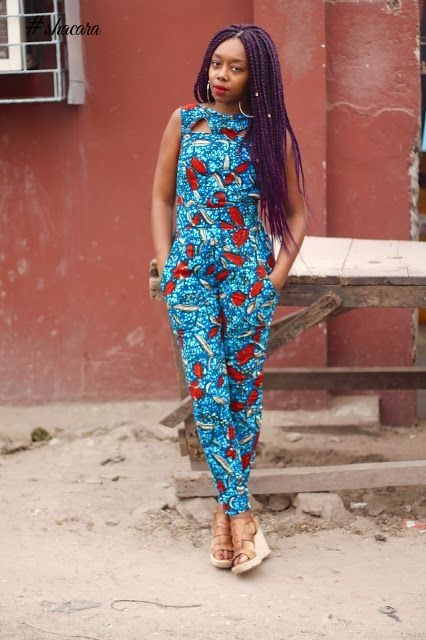 BEAUTIFUL JUMPSUIT ANKARA STYLE FOR THE WEEKEND