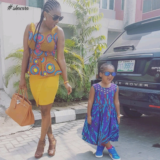 CELEBRITIES WITH ASTONISHING ANKARA FASHION STYLES