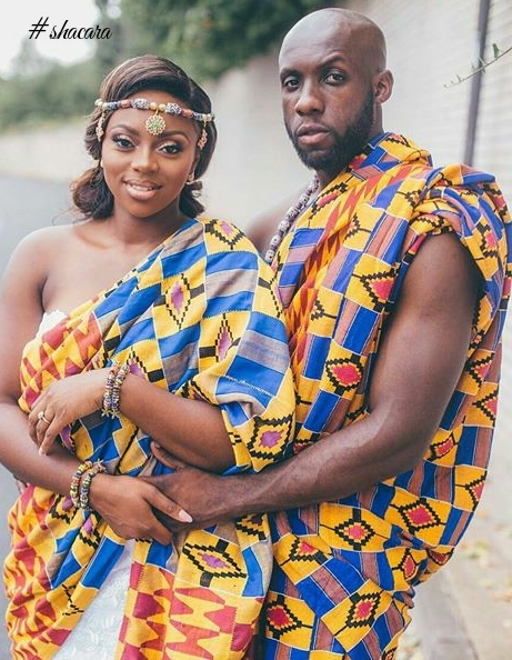 These Couples Adorned In Kentes, Ahenemas And Gold Ornaments, Will Make You Love Ghanaian Traditional Weddings