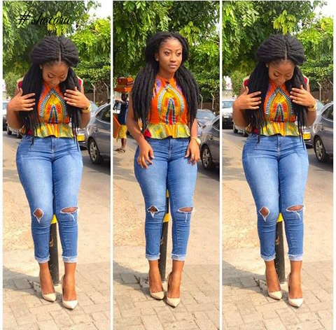 African Print On Denim Style Inspiration For Weekend Casual Looks