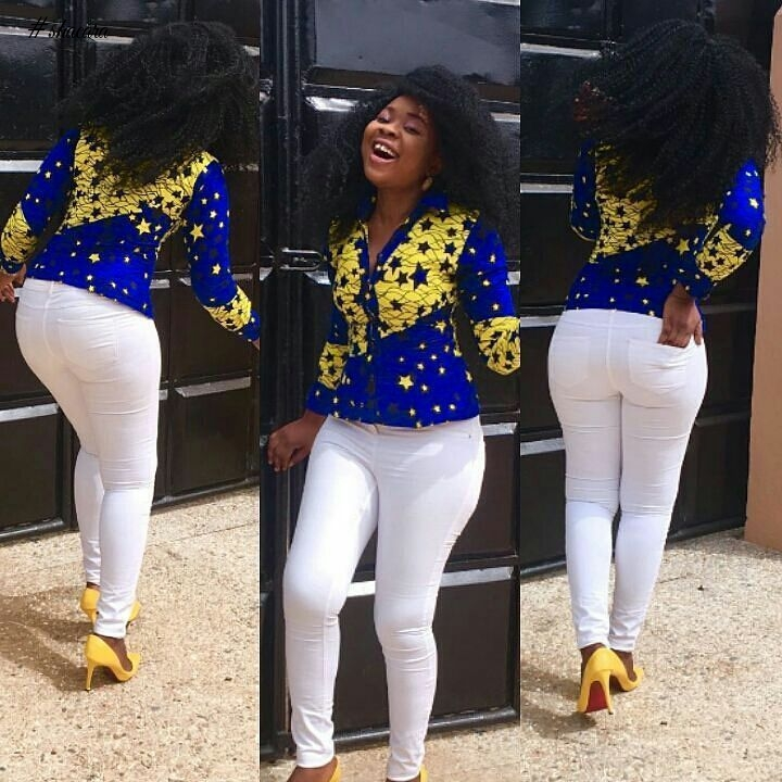 SIMPLE AND STYLISH! ANKARA TOPS FASHION QUEENS ARE SLAYING THIS WEEK