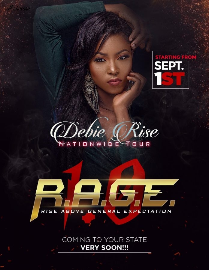 BBN Runner-up Debie Rise unveils Hot New Photos ahead of her 2017 Nationwide Tour themed RAGE