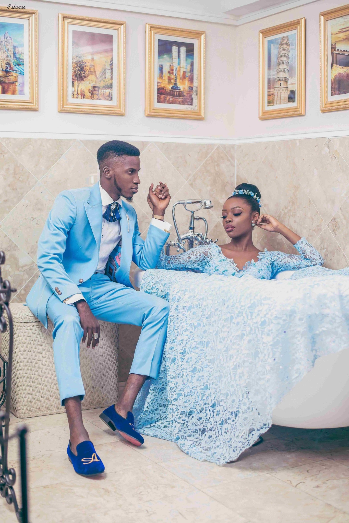 Akin Faminu & Tosin Sho-Silva Are Super Stylish In This Modern Wedding Fashion Editorial