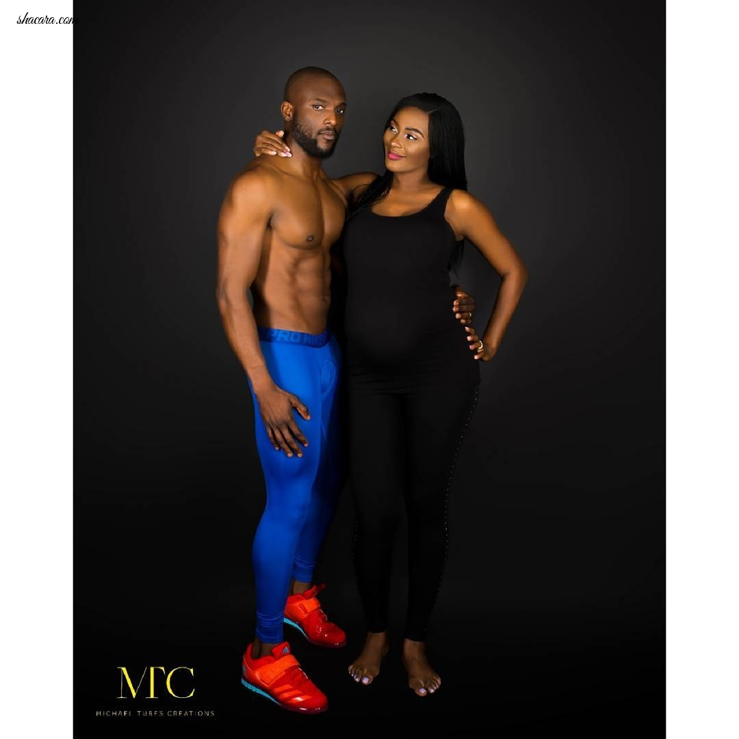 Comedian Wale Gates, Wife Lanre Welcome Baby Girl & Release Beautiful Maternity Photos