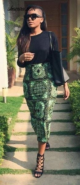 CHECK OUT HOW TO STYLE YOUR ANKARA PENCIL SKIRT TO WORK