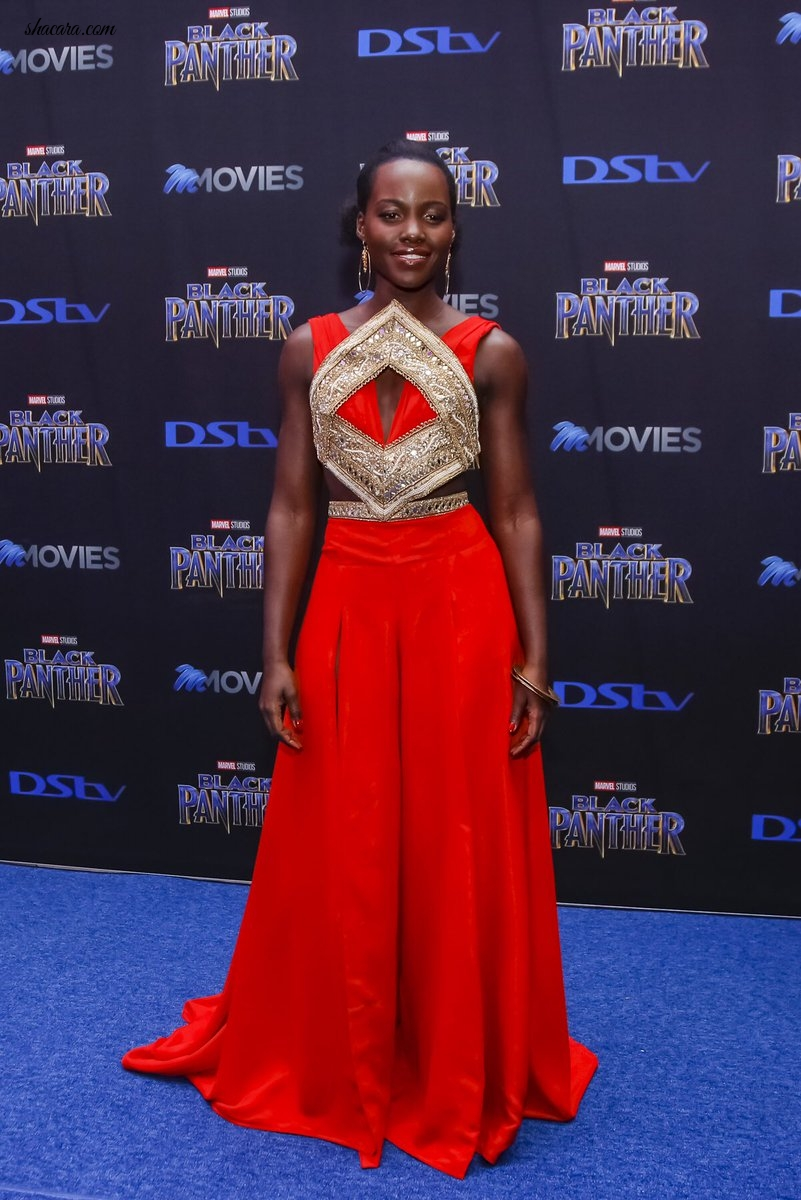 Lupita Nyong'o & Danai Gurira Bring Some Black Magic To The #BlackPanther South Africa Premiere
