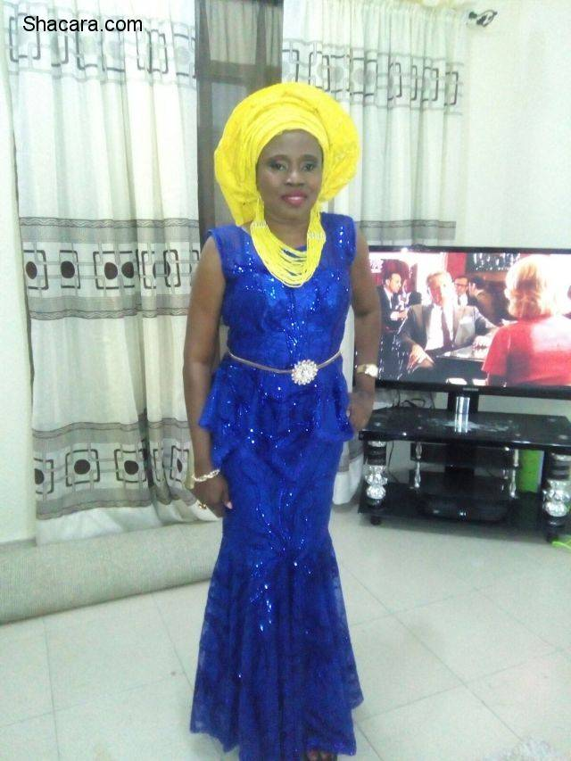 Blue and yellow Aso Ebi Styles