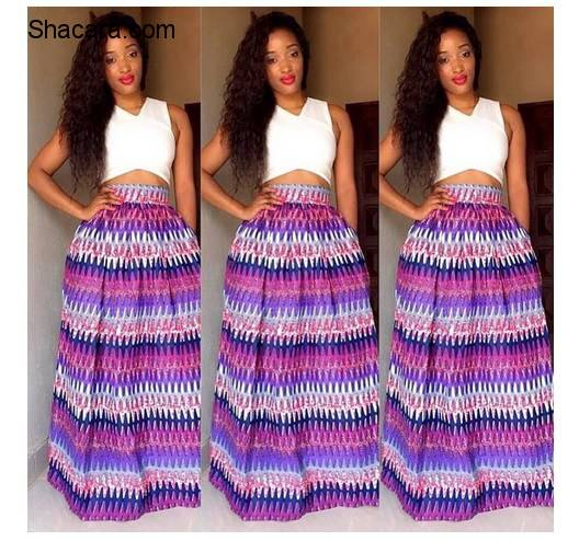 SEE CREATIVE WAYS ON HOW TO STYLE ANKARA FLARE SKIRT