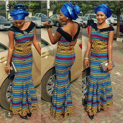 TURN HEAD IN THESE ALLURING ANKARA STYLES