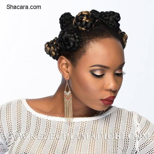 YEMI ALADE LOOKS EXQUISITE IN BANTU KNOTS HAIR AS SHE POSES FOR A PHOTOSHOOT WITH KELECHI AMADI-OBI