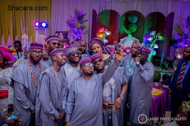 THE TRADITIONAL MOMENTS FROM TOYIN AND SEYI WEDDING BLISS