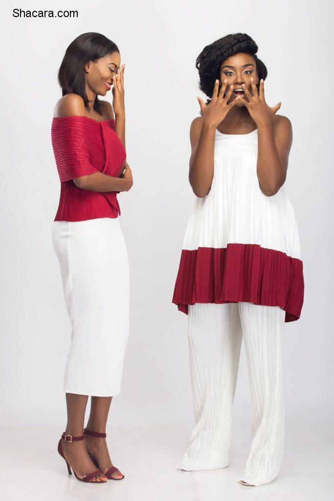 ITS CHIC AND BOLD: THE LATEST MAJU COLLECTION STARS MODELS TARMAR AWOBUTU AND JESSICA CHIBUEZE