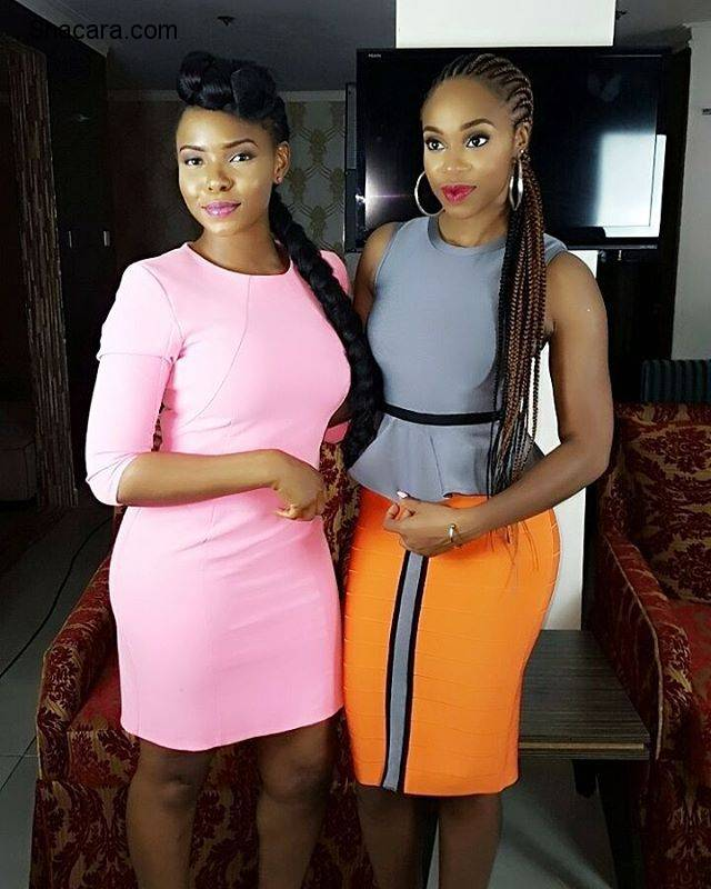 YEMI ALADE LOOK ALL SHADES OF SEXY IN PINK
