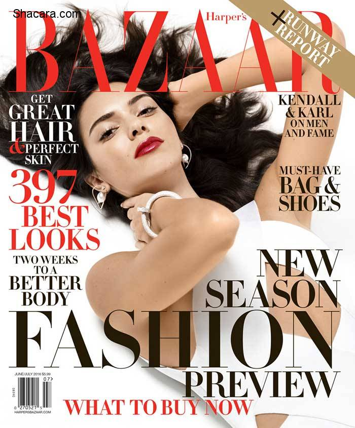 Kendall Jenner Smoulders On The Cover Of Harper's Bazaar | Talks Beyonce, Growing Up & More