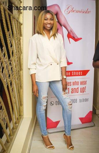 Tiwa Savage, Ebuka, Tania Omotayo, Bovi, More At The 1-Year Anniversary Celebration Of Gbemi Olateru-Olagbegi's 'Gemisoke' Shoes