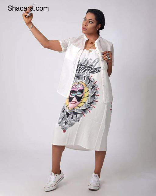 THISDAYSTYLE: HOW WOULD YOU STYLE YOUR VONNE MASKED PRINT SKIRT STARRING YVONNE NWOSU