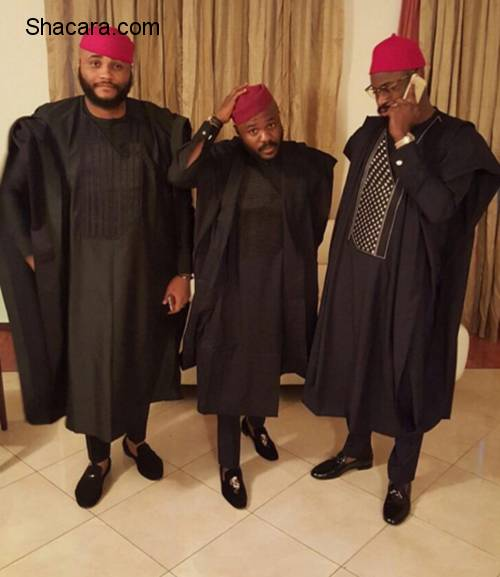 The Male Wedding Guests In Agbada