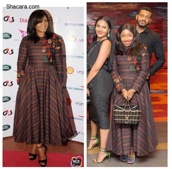 Who Wore It better? Omotola Jalade-Ekehinde & Jennifer Obayuwana In Lisa Folawiyo