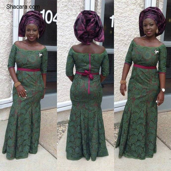 ASO EBI STYLES WITH CORD LACE