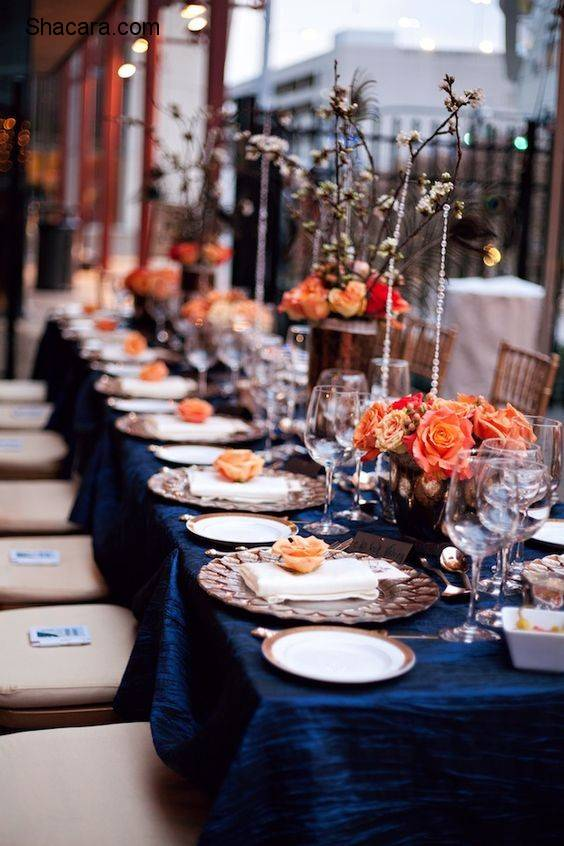 Wedding Colour Inspiration: Blue & Tangerine
