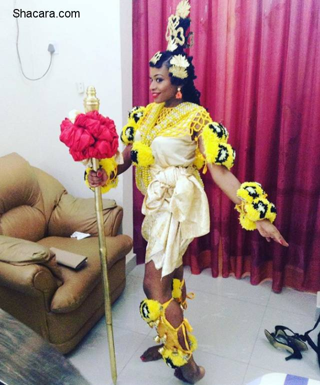 Beautiful  Calabar Brides Serving Style