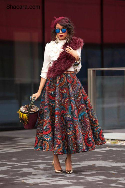 African Fashion Inspiration: How To Shirt & Skirt With Print Fabrics