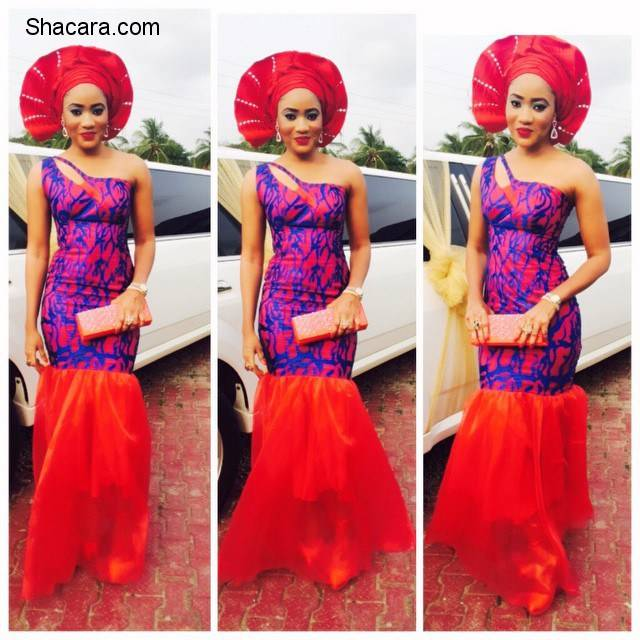 BREATHTAKING TRENDY UNIQUE ANKARA AND LACE GOWN STYLES