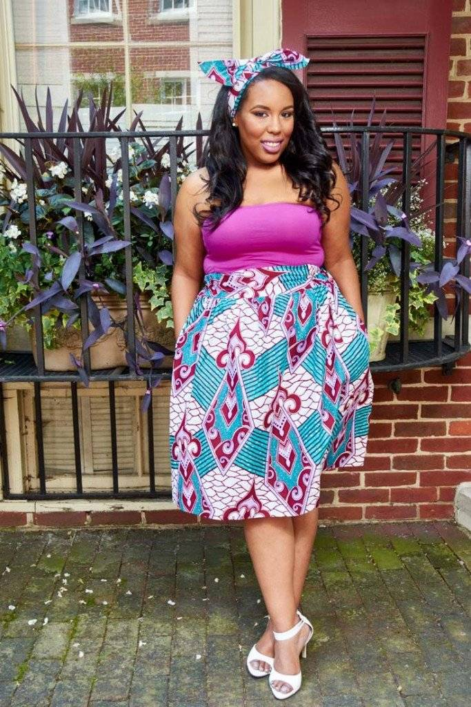 STYLISH AND COMFY PLUS-SIZE ANKARA DRESSES