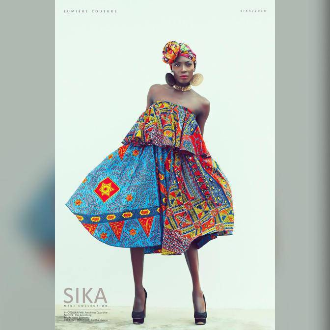 "STANDOUT AFRICAN FASHIONISTA: LUMIERE COLLECTION PRESENTS ""SIKO MINI"" 