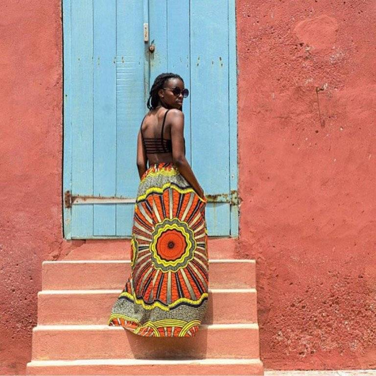 COOL WAYS TO ROCK ANKARA MAXI SKIRT STYLE