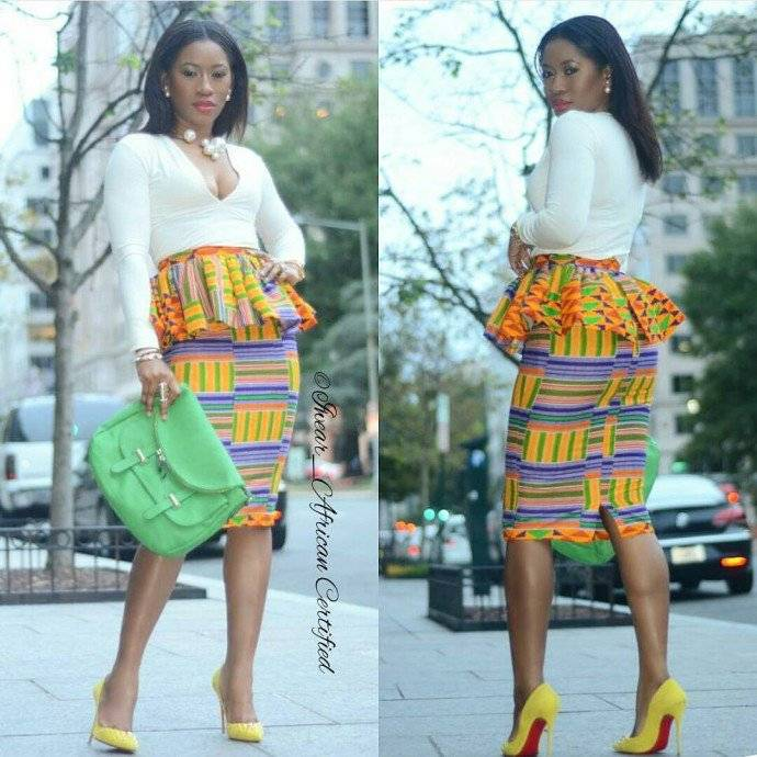 ANKARA PEPLUM SKIRT AND THE WAYS YOU CAN WEAR THEM
