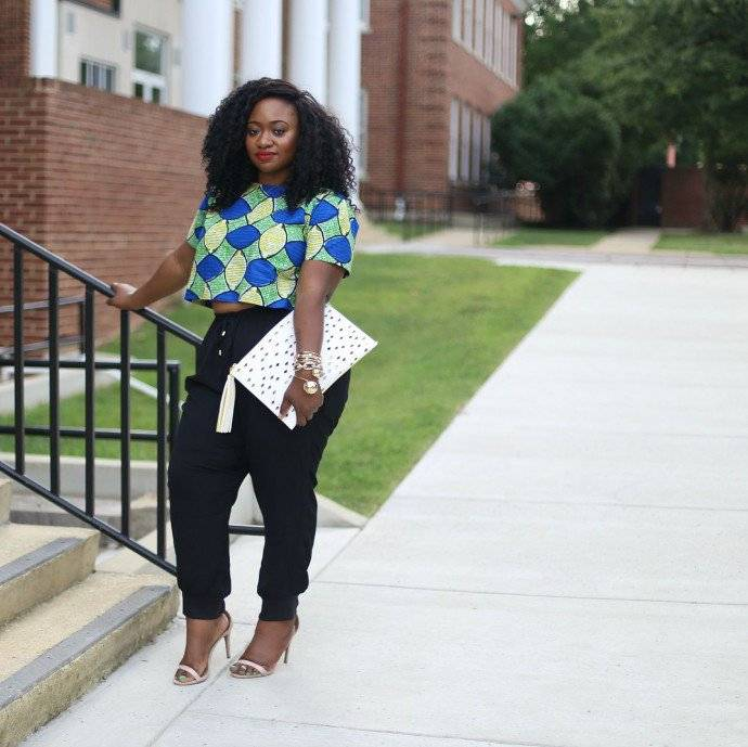 HOW TO ROCK THE PLUS-SIZE ANKARA AND CROP TOP