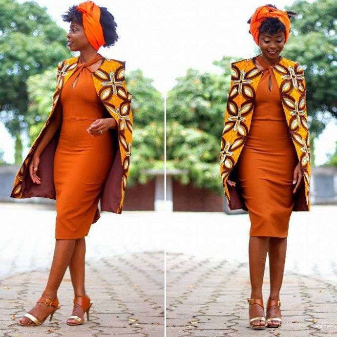JOIN THE CAPE FASHION WITH THESE ANKARA CAPE STYLES