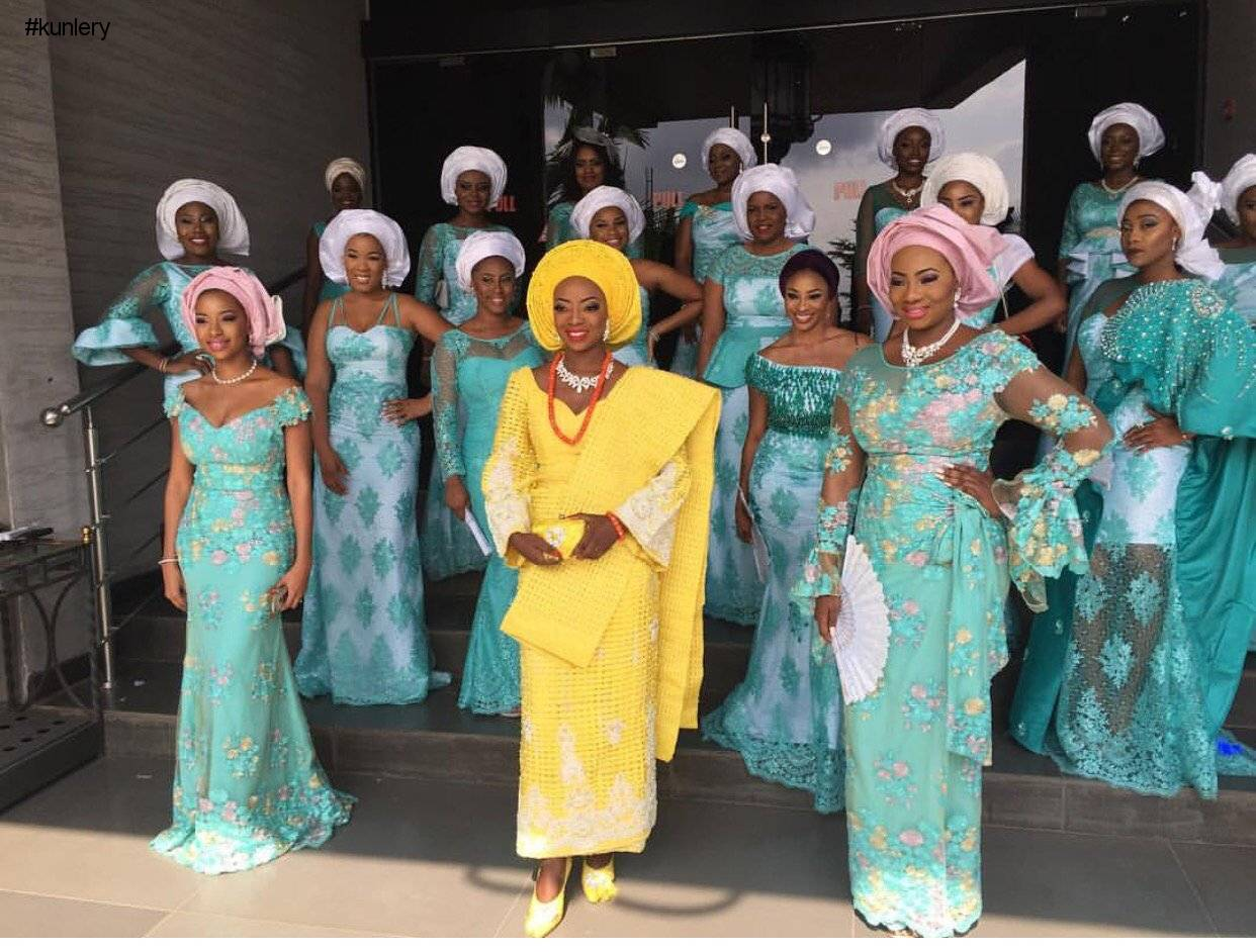 TOP DESIGNER KUNBI OYELESE OF APRIL BY KUNBI AND LANRE TOMORI'S WEDDING
