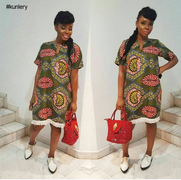 THE ANKARA FRINGE STYLE IS MAKING A COME-BACK