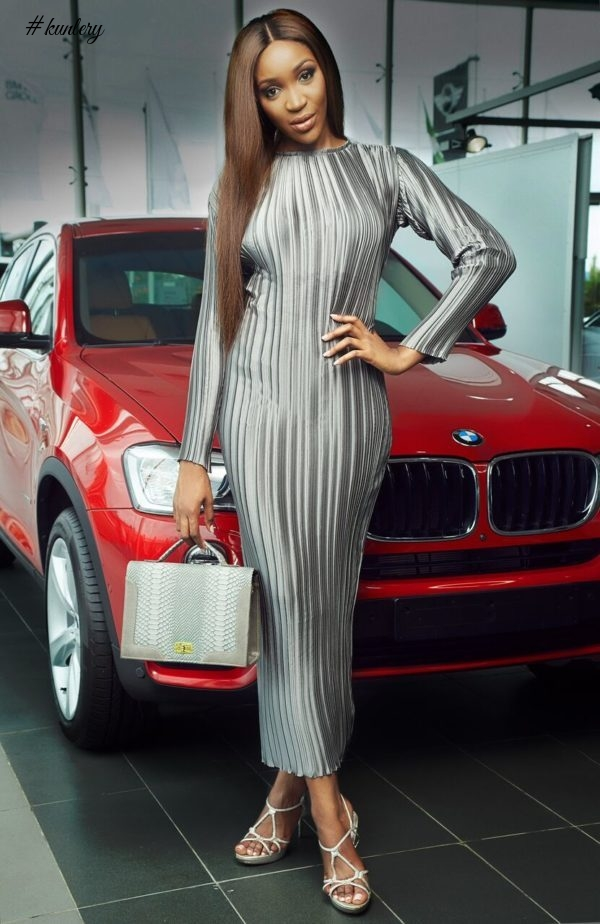 "MODEL/TV PERSONALITY IDIA AISIEN STUNS AS SHE MODELS FOR ""MAJU X BMW"" EDIT LOOKBOOK"