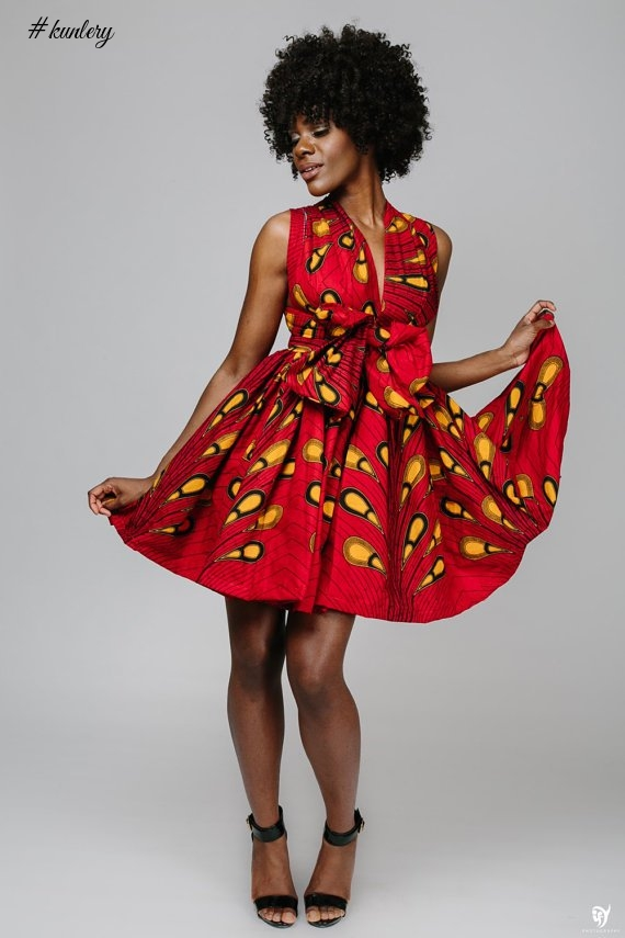 STEP UP YOUR STYLE WITH THESE YELLOW AND RED ANKARA PRINTS STYLES