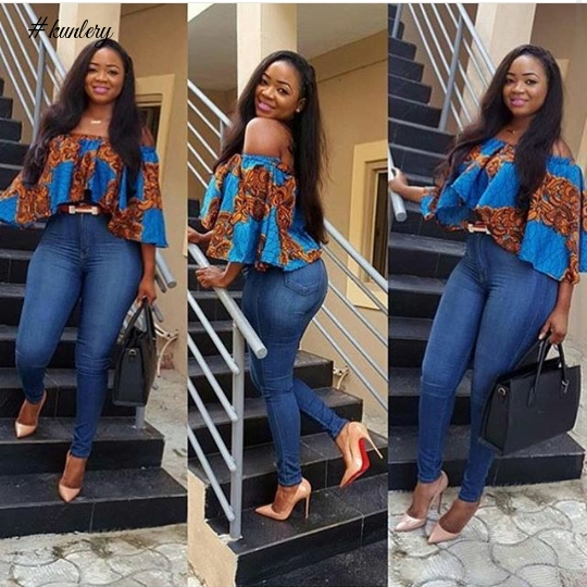 ANKARA TOPS AND DENIM PANTS YOU NEED TO STYLE