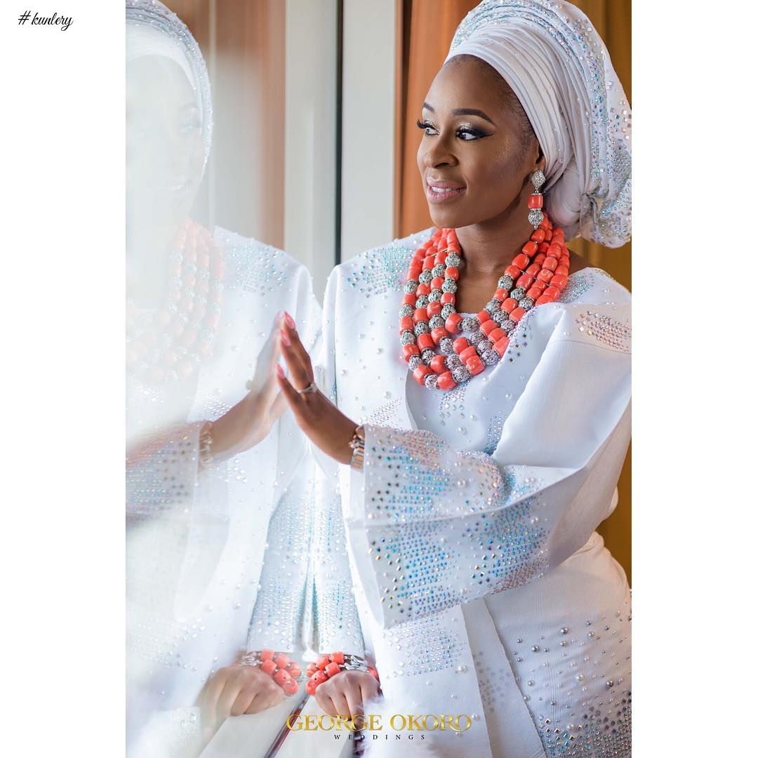 AMINA AND MOBOLANLE'S GREEN AND WHITE TRADITIONAL WEDDING