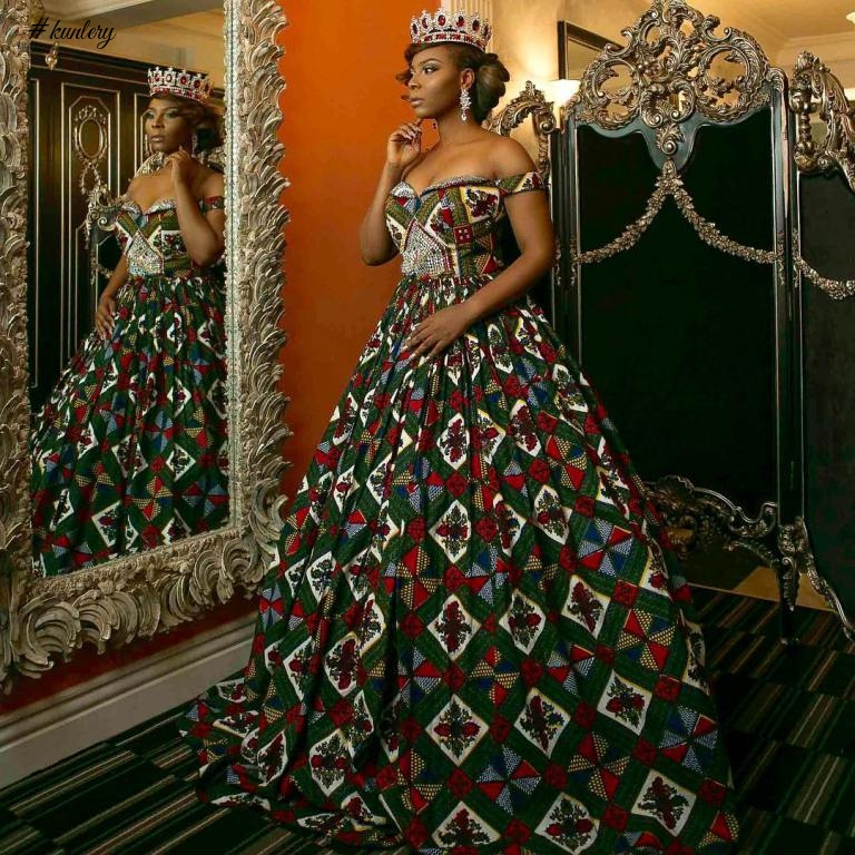 ANKARA INSPIRED WEDDING GOWN