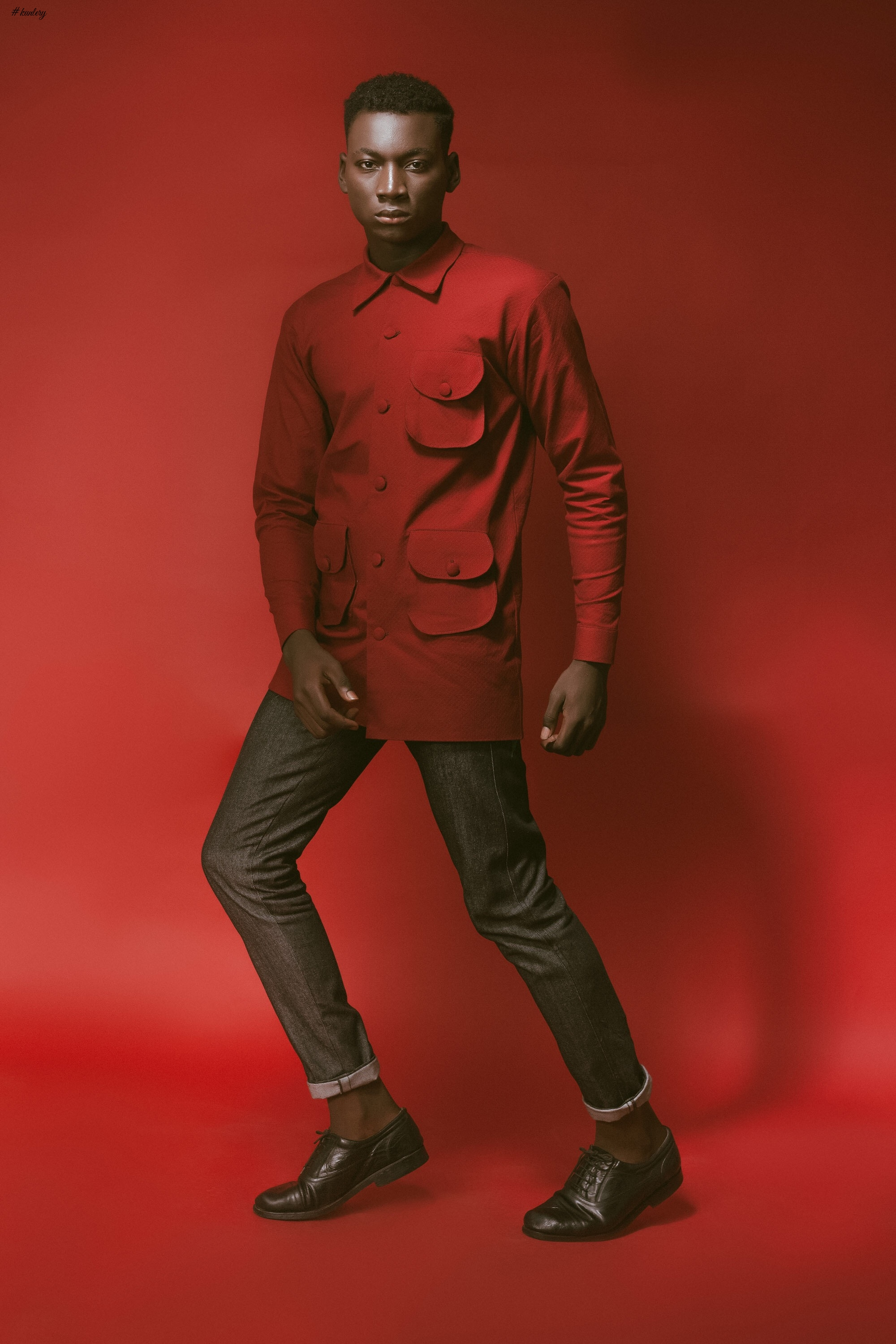 For the Love of Red! Abuja Based Aisha Abu-Bakr Luxury Design Presents Unisex Collection -Rouge (Men)