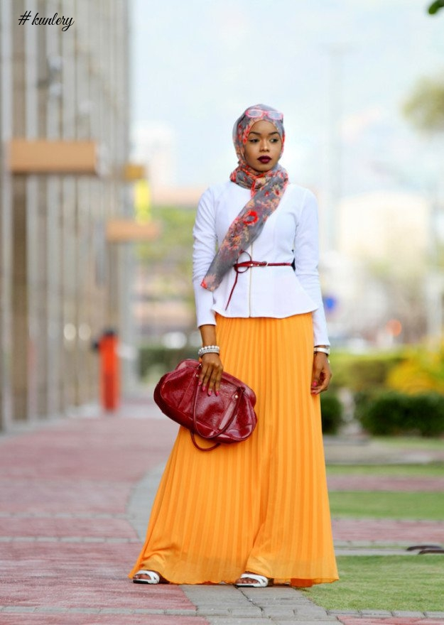COLOUR IS THE 'IT' THING FOR HIJAB STYLES THIS WEEKEND