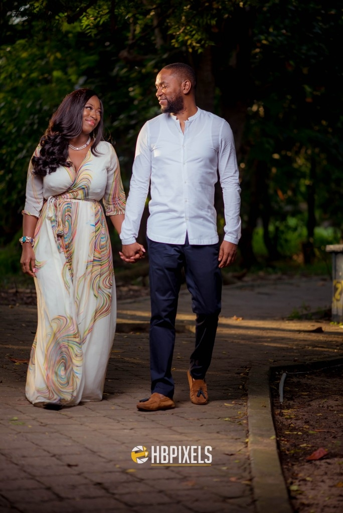 Tosin & Novo's Fun Pre-Wedding Shoot with their Dog | Photos by Happy Benson Pixels