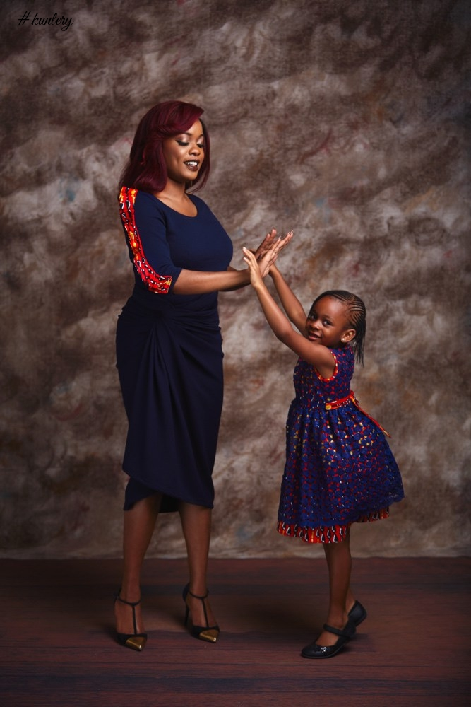 SMART MONEY WOMAN ARESE UGWU AND DAUGHTER IN A MOMMY AND ME PHOTOSHOOT FOR IRO LAGOS
