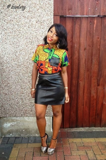 See These Fabulous Leather & Print African Fashion Fit For Outdoors