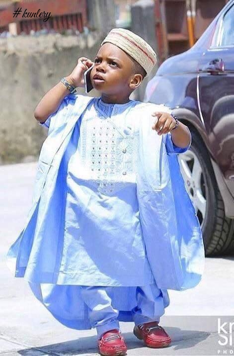 The Cutest Men Ever! When Boys Are Draped In African Fashion Attire; Agbada, Kaftan,