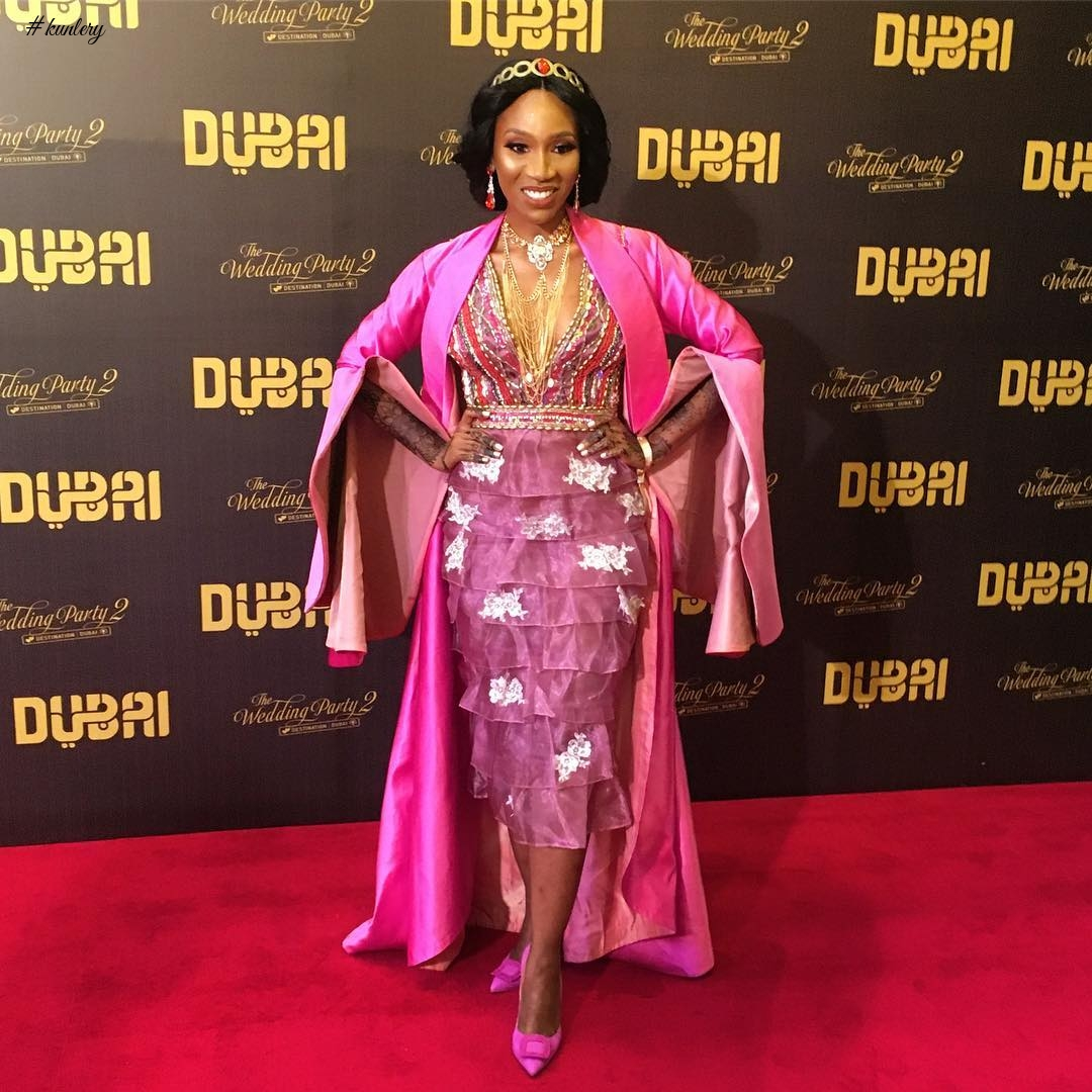 Adesua Etomi, Omotola Jalade, More At The Premiere Of The Wedding Party 2: Destination Dubai